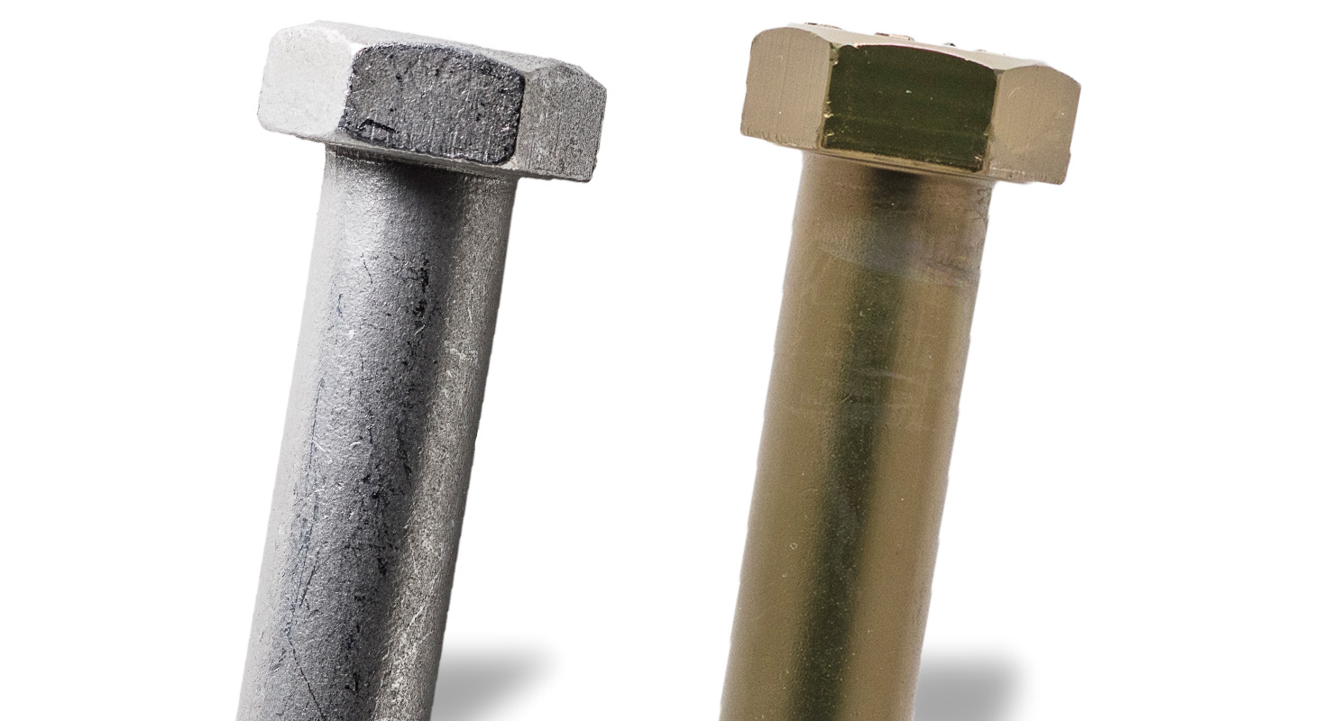 Bolt before and after Plateco